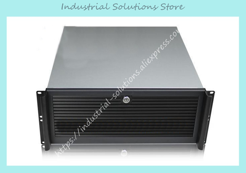 NEW Aluminum panel ultra-short 4u computer case 4u server full open door 1.0mm 480mm quality