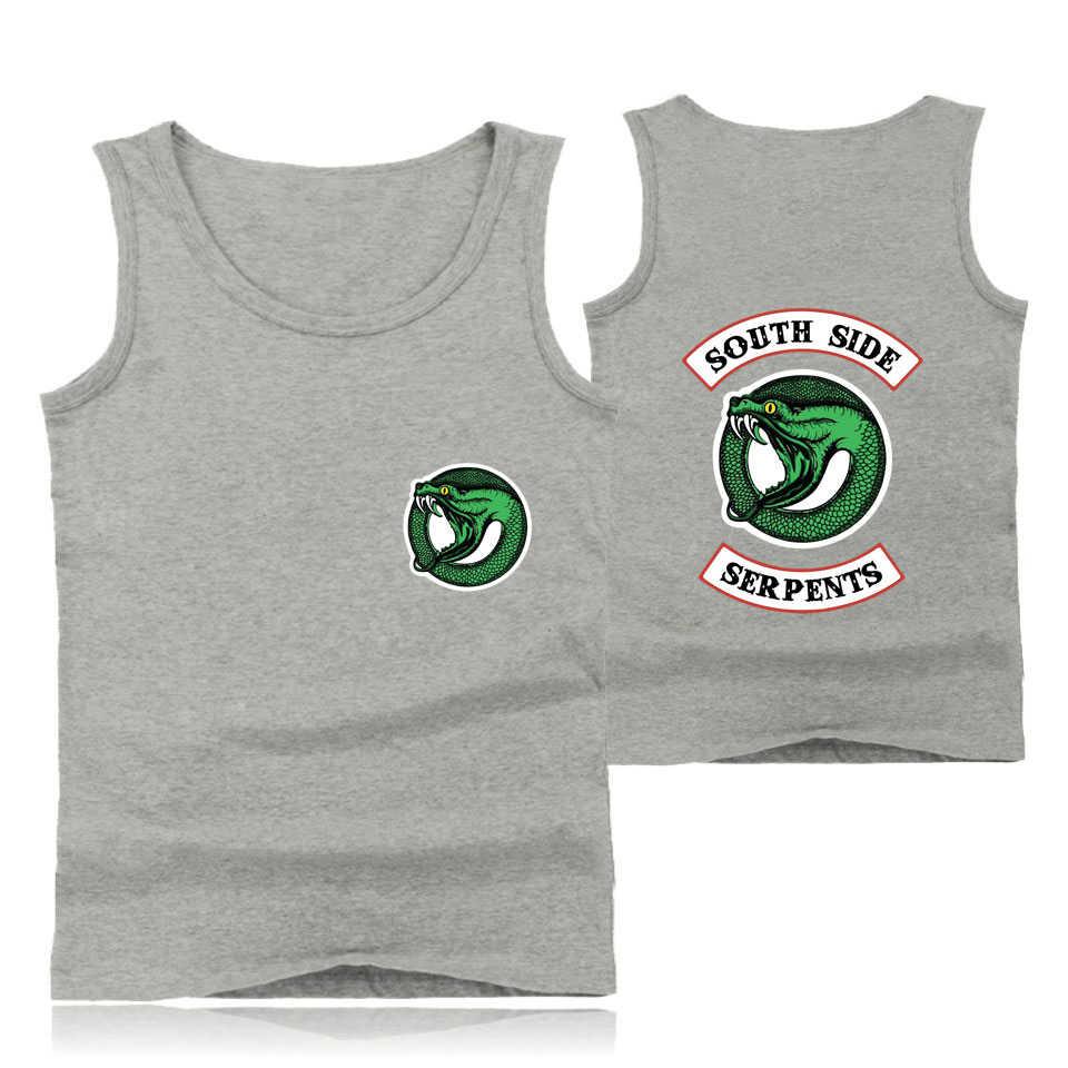 Drop Ship Southside Riverdale Serpents Sleeveless Blouse Women Tank Shirt Men's Casual Summer Sleeveless Shirt Women Tank Tops