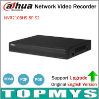 Dahua NVR2108HS 8P S2 8CH POE NVR Full HD 6MB 1080P Recorder Network Video Recorder With