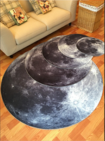 3D Moon Round Mat 80/100/120/160CM alfombras dormitorio Carpet Living Room Deurmat Dier rugs Swivel chair Mats tapis chambre