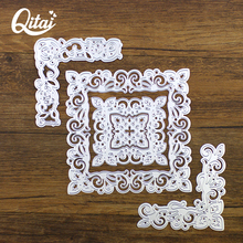 QITAI 5pcs/set Square Lace Type Delicate Pretty Paper craft DIY Cutting Dies Metal Material For Scrapbooking home decoration D11