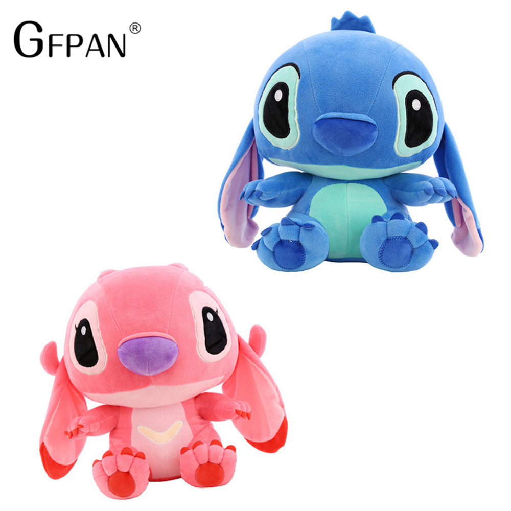 80cm Giant Cartoon Stitch Lilo & Stitch Plush Toy Doll Children Stuffed Toy For Baby Birthday Christmas Children Kid Gifts