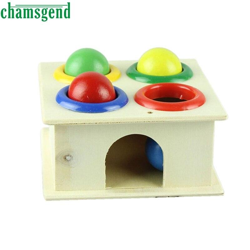 Los niños de madera knock Ball juguetes educativos cumpleaños diversión juego de hámster regalo