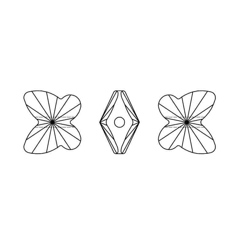 (1 pieza), cristal de Swarovski 100% Original, HECHO EN Austria de diamantes de imitación con cuentas de mariposa 5754 para hacer pulseras DIY, fabricación de joyas