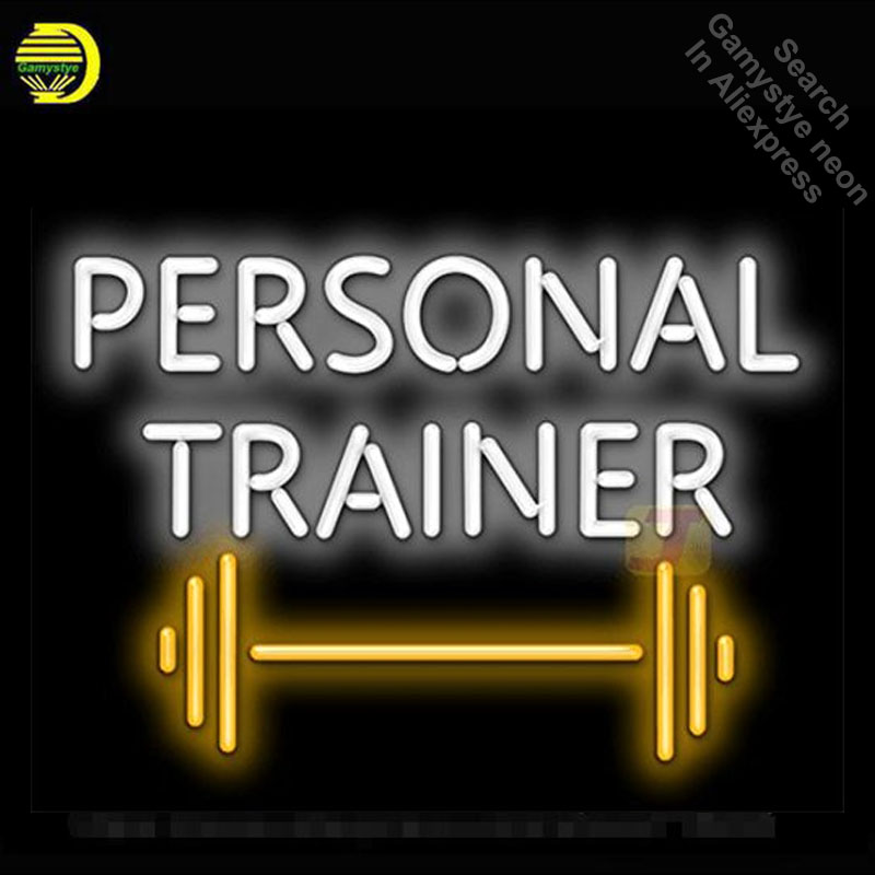 Neon Sign for Personal Trainer with Weight Graphic Neon Tube Sign commercial Light handcraft Lamp Store Displays neon light sign