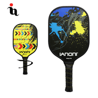 IANONI Pickleball Racket Hot Graphite Face Full Carbon Fiber Paper Honeycomb Double Sided Pattern High Quality Pickleball Paddle