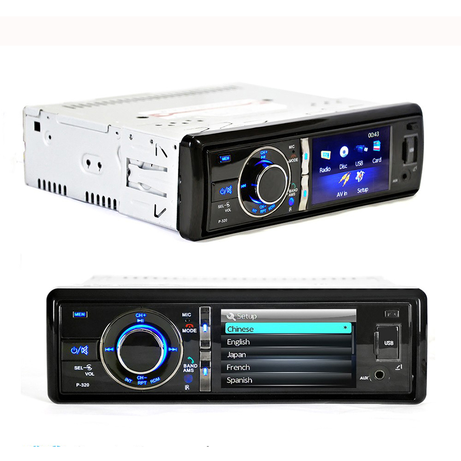 3 Inch Single Din Car DVD Player Bluetooth MP3 MP5 Rearview Backup Handsfree FM USB Charger 1Din Auto Car Mp3 Mp4 CD Player Cam 2 din car radio mp5 player universal 7 inch hd bt usb tf fm aux input multimedia radio entertainment with rear view camera
