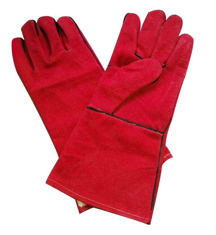 Cowhide welding protective wear-resisting Heat insulation working gloves