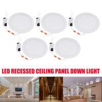 5PCS Ultra thin LED Down light lamp 21W led lighting Recessed grid downlight slim Round panel light Free shipping