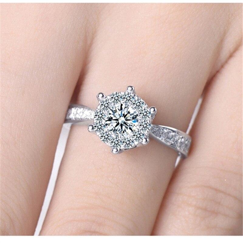 Oro blanco de la manera plateó el Anillo de Dedo anel anéis Joyería ...