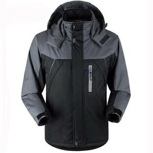 Image 1 - Зимняя уличная умная куртка унисекс с капюшоном и USB зарядкой, теплое пальто с регулируемым температурным контролем, защитная одежда DSY0010