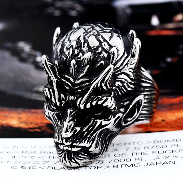 STAINLESS STEEL YAOH ICE DEMON RINGS