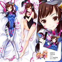 50X150CM Overwatch (video game) d.va loli lolita cameltoe cartoon anime art wall picture mural scroll canvas painting poster