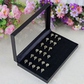 Black Plate With Cover Ring Jewelry Jewelry Box The Ring Display Tray Jewelry Jewelry Props Display Plate