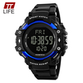 TTLIFE Branded Sports Watch Running Pedometer 50M Water Resistant Stopwatch PU Resin Strap Branded Unisex Watches for Men Woman