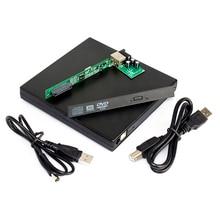 Внешний чехол для ноутбука с USB IDE CD DVD RW rom Enclosue