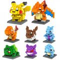 Monsters Go Figures Model Pikachu Charmander Bulbasaur Squirtle Charizard Eevee Children Gift 9+ Anime Building Blocks