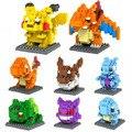 Monstros Vão Modelo Figuras Eevee Pikachu Charizard Charmander Bulbasaur Squirtle Dom Crianças 9 + Anime Blocos de Construção