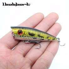 Купить с кэшбэком New Arrival 1pcs 7g 6.8cm Mini Popper Fishing Lures 3D Eyes Bait Crankbait Wobblers Tackle Isca Poper Japan artificial hard bait