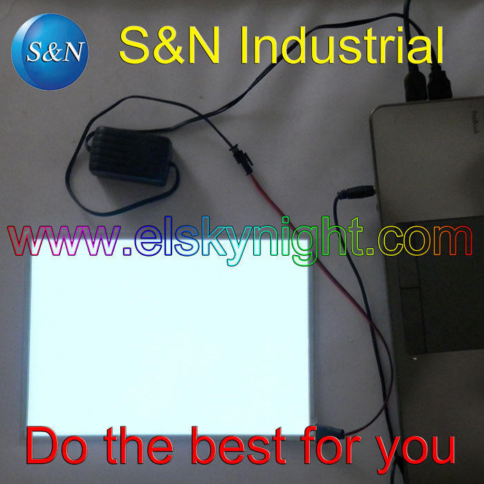 A5 Size Snow White El Sheet El Panel El Back Light With 5V USB Controller Steady On For Advertising Or Decoration Free Shipping