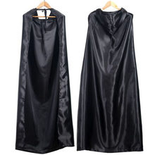 1PC Black Halloween Costume Theater Prop Death Hoody Cloak Devil Long Tippet Cape Cosplay For Halloween Fancy Dress Party(China)