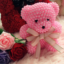 Creative gifts for Valentines Day Handmade Foam pearl bear Kit 20cm foam creative birthday gift different colors