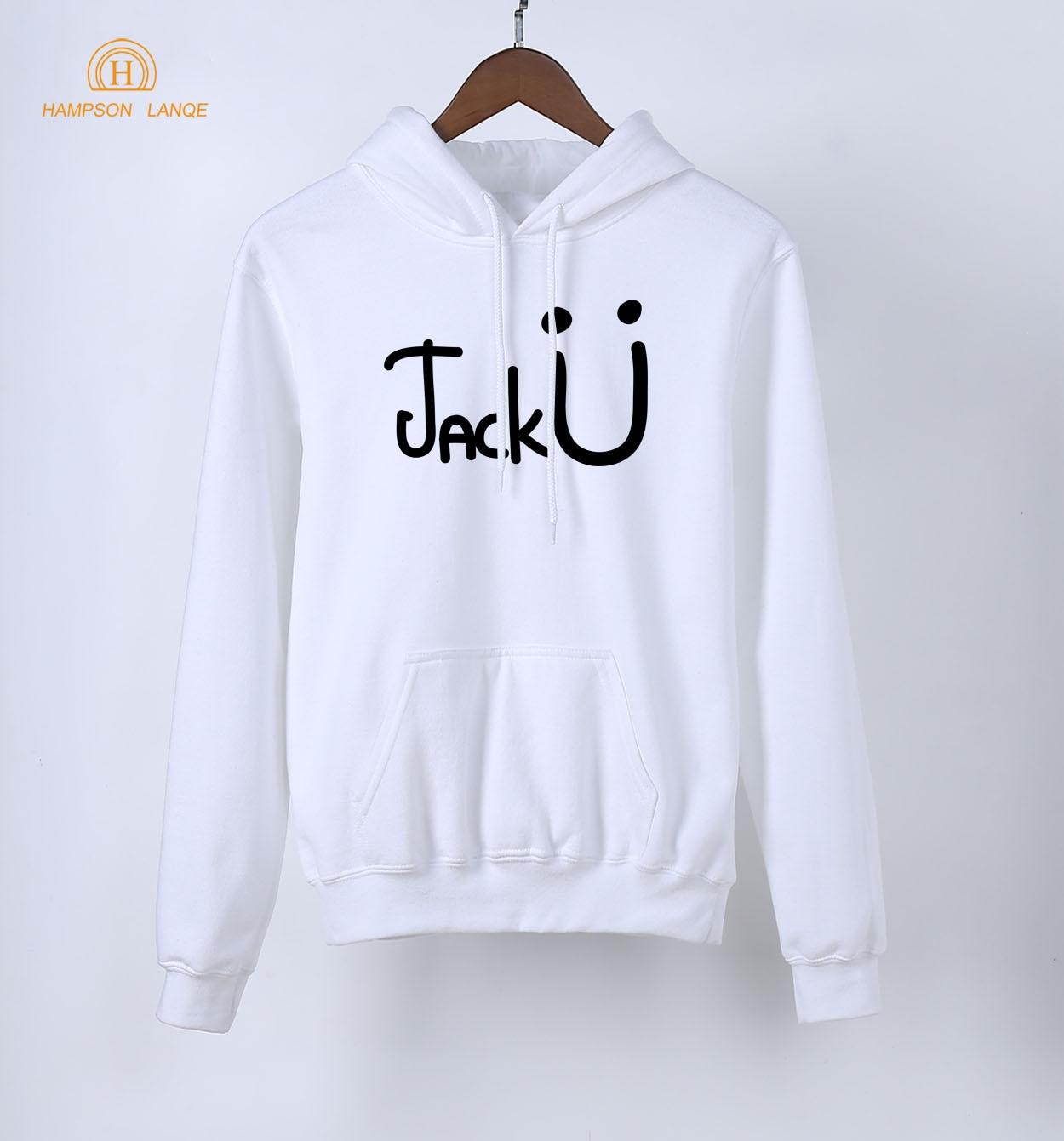 HAMPSON LANQE Famous Band Jack U Fashion Women Hoodies 2018 Spring Autumn Warm Fleece Sweatshirts Hip Hop Hoodie For Fangirl