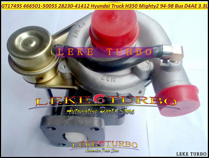 Free Ship Turbo GT1749S 466501 466501-5005S 28230-41412 Turbocharger For HYUNDAI H350 Mighty II 94-98 Chrorus Bus H600 D4AE 3.3L  цены