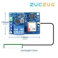 Module de relais 1 canal commutateur de télécommande SMS GSM SIM800C STM32F103CBT6 pour pompe à oxygène à effet de serre