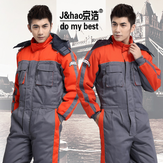 Wholesales Fashion Thicken Warm Jumpsuit Worker Clothing Safety Mens Workwear Working Clothes Coveralls