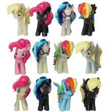 hot deal buy 12 pieces / set little pvc action toy figures hobbies horse princess celestia luna unicorn plush doll - favorite styles