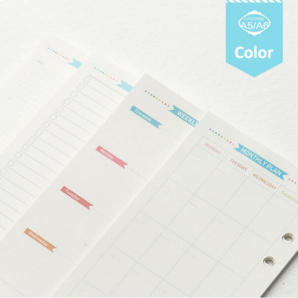 Dokibook Colorful Notebook Papers A5 A6 Pages Planner ...