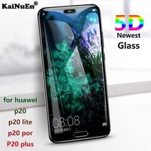 KaiNuEn 5D Curved screen protector Tempered Glass for huawei p20 p20 lite pro plus p20lite p 20 nova 3e Film Full Cover 9h 3d 4d все цены