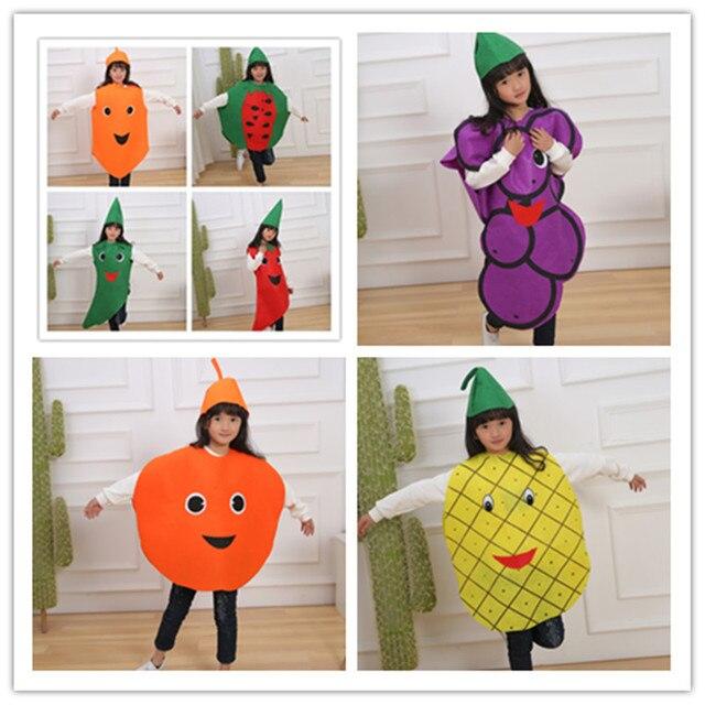 Dag Halloween.Us 8 09 10 Off Mode Jongen Meisje Kinderen Kids Kinderen Dag Halloween Party Cartoon Fruit Ananas Druif Oranje Meerdere Stijlen Kostuums In Mode