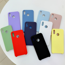 Fashion Silicone Case For Huawei Nova 3 3i P20 Lite Soft Matte Cover Korean INS Stylish Red Yellow Green Blue Pink White Purple