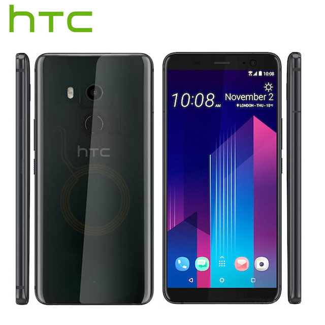 HK versión HTC U11 más U11 + 4G LTE móvil teléfono 6GB RAM 128GB ROM 2160 P Octa Core 6,0 pulgadas IP68 1440x2880 P Android 8,0 Callphone