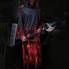 Burning man costumes Halloween Terror Flame robe JUST