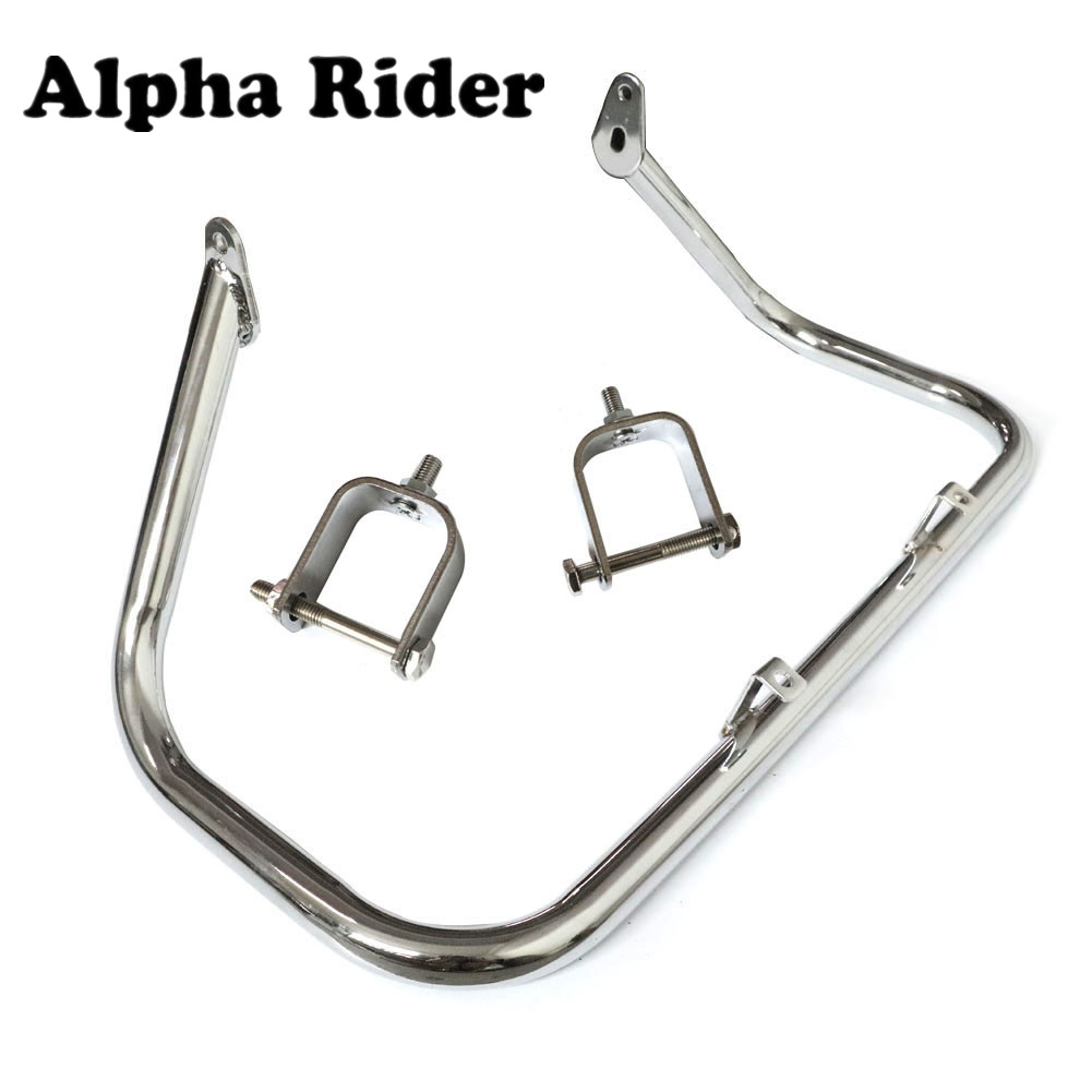 Engine Guard Highway Crash Bar Fence Bumper Frame Protector For Kawasaki VN900 2007 2008 2009 2010 2011 12 13 High Quality Steel high quality for bmw r1200gs 2013 2014 2015 motorcycle upper engine guard highway crash bar protector silver