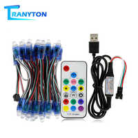 WS2811 RGB LED Module String DC5V Full Color LED Pixel Light Modules IP68 Waterproof RGB Color LED Module With 17key Controller