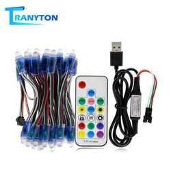 WS2811 moduł LED RGB ciąg DC5V LED w pełnym kolorze światła pikseli moduły IP68 wodoodporna RGB moduł LED z 17key kontroler w Moduły LED od Lampy i oświetlenie na