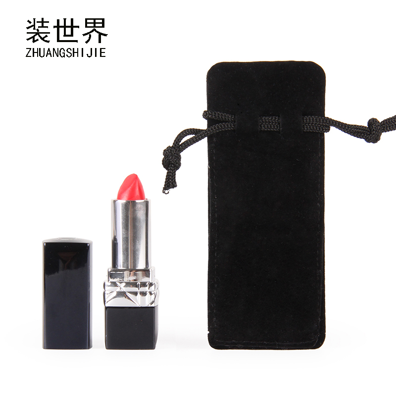 3 Size Custom Logo Printed Lipstick Pouch Cotton Storage Canvas Bags Drawstring Bag Jewelry Pouch Bag Wholesale Price