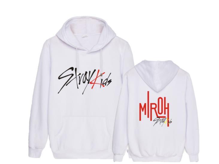 Kpop straykids новый альбом miroh же печать флисовые толстовки с капюшоном k поп унисекс модный пуловер Свободные Толстовка на осень зиму