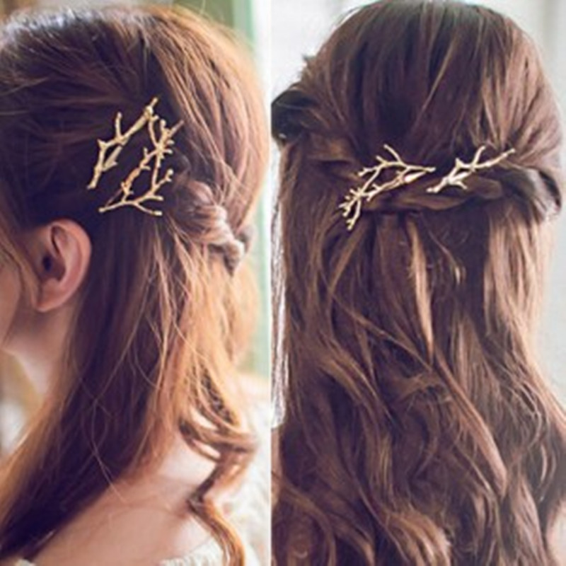 zhilie Korea hair accessories cents US branch antlers alloy
