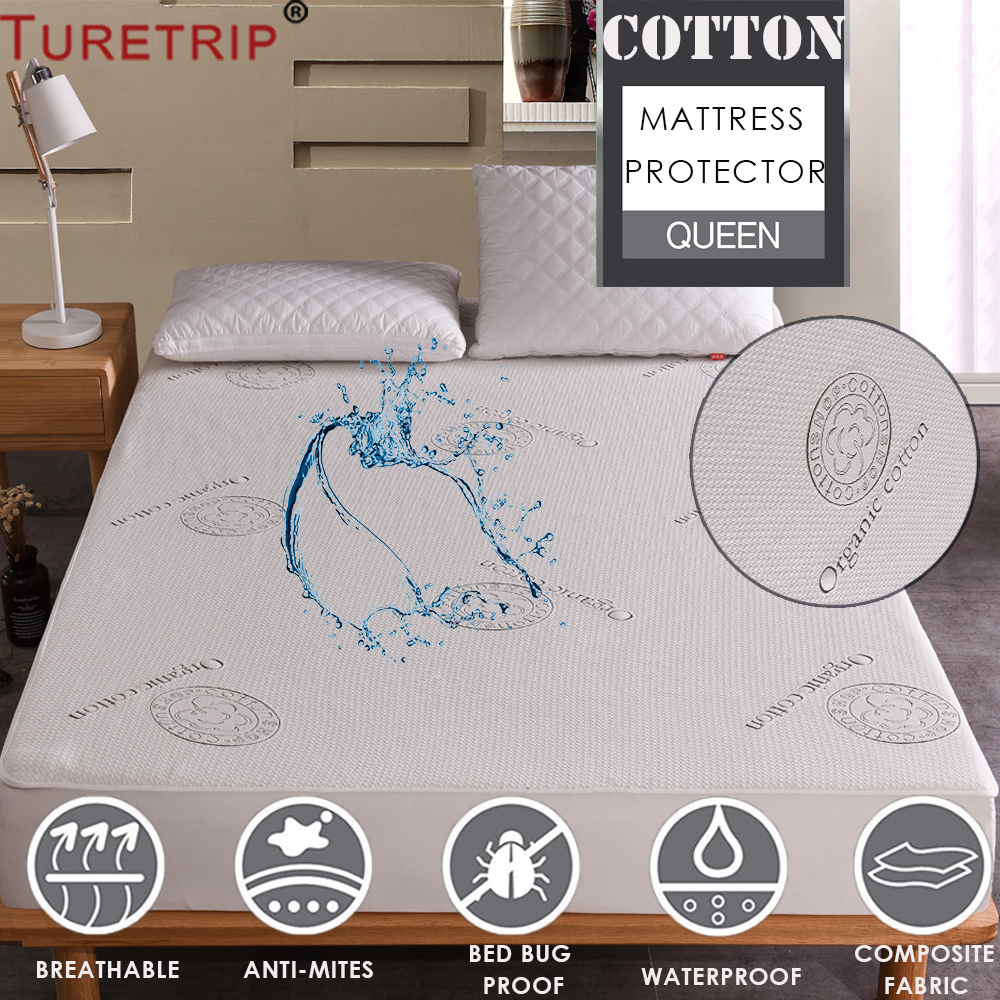 Bed Bug Proof Cover Us 17 98 33 Off Turetrip Organic Cotton Waterproof Mattress Topper Anti Mites Mattress Pad Cover Bed Bug Proof Mattress Bed Cover Matelas In