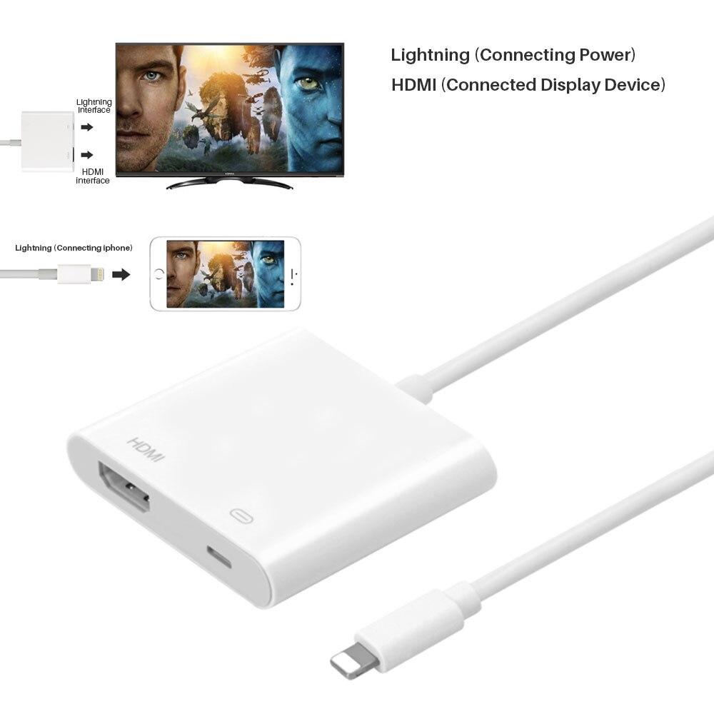 Bâton de TÉLÉVISION Numérique HDMI AV Câble TV Screen Mirroring Adaptateur de Câble de Données de Synchronisation Pour ipad pour iphone X 8 7 6 Plus iphone 5 ipad