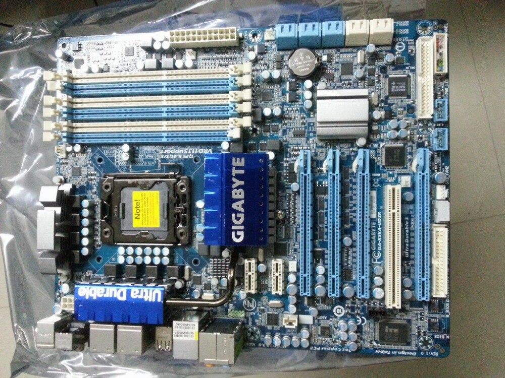 Original placa base para Gigabyte GA-X58A-UD3R LGA 1366 DDR3 24 GB USB2.0 USB3.0 X58A-UD3R X58 placa base de escritorio envío gratuito