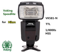 Voking Electronic 2014 New 1 8000s HSS Sync Digital Camera Shoes Flash VK581N For Nikon D7100