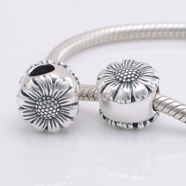 f279e3e09 Fits Pandora Bracelets Sunflower Silver Charm Beads New Authentic 925 Sterling  Silver Charms DIY Jewelry, Necklaces & Pendants