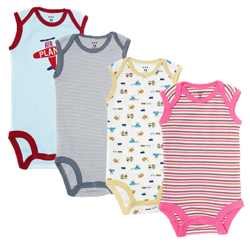 5Pcs Baby Rompers Summer Newborn Baby Clothes Cotton Baby Boy Clothes Infant Jumpsuits Baby Girl Clothing Sets for 0-12 Month newborn baby girls rompers cotton padded thick winter clothing set cartoon bear infant climb hooded clothes babies boy jumpsuits