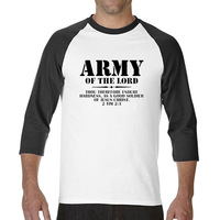 2017 Various Colors Funny Cotton Army Of The Lord 2 Timothy 23 Bible Linesfunny Raglan Sleeve